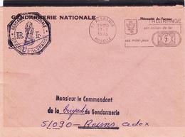"""Enveloppe De 1978 ALGRANGE + Flamme """"Ses Mines De Fer, Ses Mini Jeux"""" Sceau Gendarmerie - Storia Postale"""