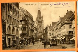 SPR264, Freiburg I. Br., Kaiserstrasse, Tramway, Circulée 1912 Sous Enveloppe - Freiburg I. Br.