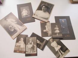 10 Alte Fotos Um 1900 Mit Frauen / Kinder / Babies Fast Alle Auf Dicker Pappe! Interessant?? - Fotos