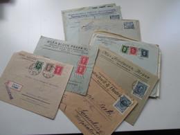 Tschechoslowakei Belegeposten 1920er Jahre. R-Briefe / Express Usw. 21 Stück. Sehr Interessant!Firmenkorrespondenz - Czechoslovakia