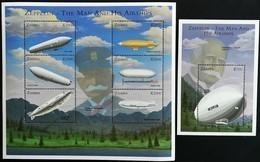 # Zambia 2001**Mi.1315-20 + Bl.15 Airships  , MNH[13;24] 3. - Luchtballons