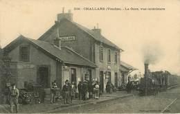 Dép 85 - Chemins De Fer - Gares - Trains - Challans - La Gare - Vue Intérieure - état - Challans