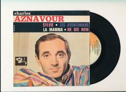 "Charles AZNAVOUR  "" SYLVIE - LA MAMMA ETC....) ""  Disque BARCLAY "" EP 4 TITRES   TRES BON ETAT - 45 T - Maxi-Single"