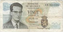Bélgica - Belgium 20 Francs 15-6-1954 Pk 138 1 Ref 153-9 - [ 2] 1831-... : Reino De Bélgica