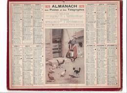 Almanach Des Postes Et Des Télégraphes 1929: Laitiere Vosgienne   Basse Cour    Complet - Calendars