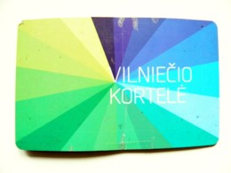Transport Bus Trolley Plastic Card Carte Ticket Lithuania Vilnius Vilniecio Kortele - Season Ticket