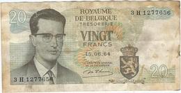 Bélgica - Belgium 20 Francs 15-6-1954 Pk 138 1 Ref 153-4 - [ 2] 1831-... : Reino De Bélgica