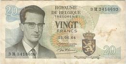 Bélgica - Belgium 20 Francs 15-6-1954 Pk 138 1 Ref 153-5 - [ 2] 1831-... : Reino De Bélgica