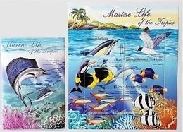 Antigua Barbuda 2001** MARINE LIFE, MNH [19;32] - Meereswelt