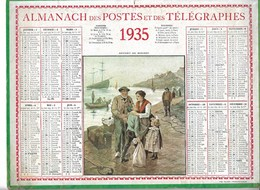 Almanach Des Postes Et Des Télégraphes 1935: Départ Du Mousse. Marine. Bretagne   Complet - Calendars