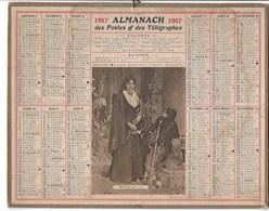 Almanach Des Postes Et Des Télégraphes 1917: Mireille Par COT  Complet - Calendriers
