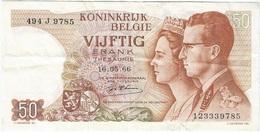 Bélgica - Belgium 50 Francs 16-5-1966 Pk 139 1 Firma D Haeze Ref 27 - [ 2] 1831-... : Reino De Bélgica