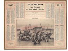 Almanach Des Postes Et Des Télégraphes 1919: Retour De Pêche. Bretagne.   Complet - Calendriers