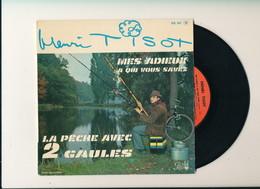 """Henri TISOT  """" MES ADIEUX A QUI VOUS SAVEZ""""  Disque PATHE """" EP 4 TITRES   TRES BON ETAT - 45 T - Maxi-Single"""
