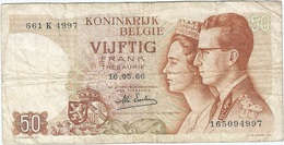 Bélgica - Belgium 50 Francs 16-5-1966 Pk 139 3 Firma Kestens Ref 28 - [ 2] 1831-... : Koninkrijk België