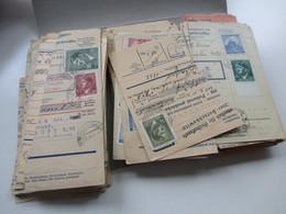 Böhmen Und Mähren Paketkarten / Postanweisung Abschnitte 147 Stück! Schöne Frankaturen! Randstücke! Fundgrube! Perfins - Deutschland