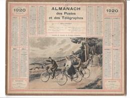Almanach Des Postes Et Des Télégraphes 1920: Tourisme De Vacances En Provinces Reconquises. Vélo  Ill BEUZON.   Complet - Calendars