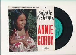 "Annie CORDY  "" SALADE DE FRUITS""  Disque COLUMBIA"" EP 4 TITRES   TRES BON ETAT - 45 T - Maxi-Single"