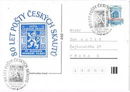 32574. Tarjeta PRAHA (Republica Checa) 1998. Postovni Muzeum, Museo Postal. Theme SCOUT - Cartas