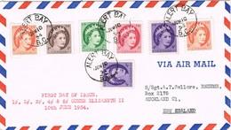 32575. Carta Aerea ALERT BAY (B.C.) 1954 To New Zealand. - 1952-.... Reinado De Elizabeth II