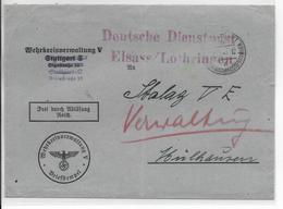 1941 - PRISONNIERS DE GUERRE En ALSACE - ENVELOPPE De STUTTGART => ADMINISTRATION Du STALAG VE à MULHOUSE - Guerre De 1939-45