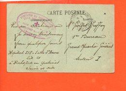 Militaire - Hôpital Auxilliaire N° 518 - Association Des Dames Françaises -Croix Rouge Française - Rochefort En Yvelines - Marcophilie (Lettres)