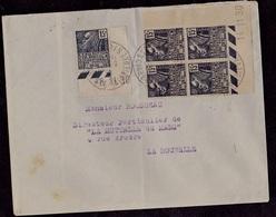 Lettre De SURGERES Avec N° 270 Coin Daté Pour La Rochelle - 1930-1939