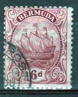 Bermuda George V 6d Single Stamp From The 1922 Definitive Set. - Bermuda