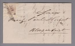Heimat AT Steiermark Rockersburg 1858-09-02 Brief Nach Klagenfurt - 1850-1918 Empire