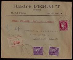 Lettre Chargée De 1941 De BARSAC Pour La Rochelle - Covers & Documents