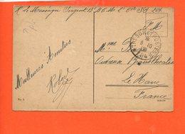 Militaire - Trésor Et Poste 204 - Le Messager Sergent 13 è  - 2ème Compagnie Infanterie 204 - Postmark Collection (Covers)
