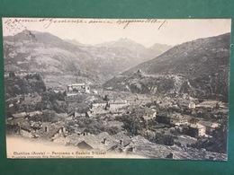 Cartolina Chatillon - Aosta - Panorama E Castello D'Ussel - 1904 - Non Classificati