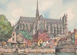 Barré & Dayez. Illustrateurs: Signé Barday: AMIENS (80). Le Marché Sur L'eau. N° 2060 B - Barday