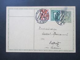 CSSR 1929 Ganzsache Mit 2 Zusatzfrankaturen Stempel Hradek Nad Nisou / Grottau Nach Ostritz Sachsen - Czechoslovakia