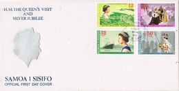 32578. Carta F.D.C. APIA (Samoa Y SISIFO) 1977. Visit Royal H.M. The QUEEN'S Visit - Samoa