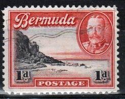 Bermuda George V 1d Single Stamp From The 1936 Definitive Set. - Bermuda