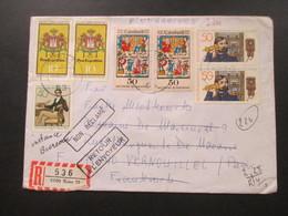 BRD 1977 MiF Einschreiben 5300 Bonn Nach Vernouillet Stempel Non Reclame / Retour A L'Envoyeur Retourbrief - BRD