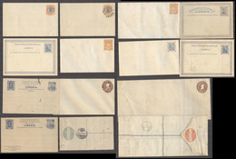 LIBERIA. C.1890-1910. Stat Mint Selection 14 Diff Incl Doble Cards Env Two Are Used Missing Stamps On Reverse. Precancel - Liberia