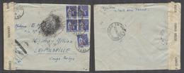 FRANCE - XX. 1941 (25 July). Belgian Congo. French Petain Regine. Isere - Leopoldville, Belgian Congo (13 Nov) With Arri - France