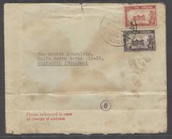 SIAM. C.1940-1. BKK - Ecuador, Guayaguil, South America. A WW II Fkd Censored Depart (n8) Env Addressed To The Danish Co - Siam