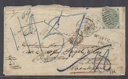 GREAT BRITAIN. 1863 (17 Sept). London - Germany, Baden (19 Sept). Fkd Env Fwd Few Times Insuf Prepaid Taxed Several Time - Gran Bretaña