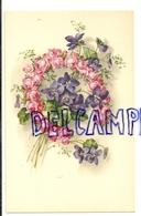 Couronne De Roses En Forme De Fer à Cheval Et Pensées Mauves. Coloprint Spécial 6596 - Non Classés