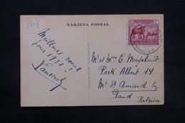 CONGO BELGE - Oblitération Maritime Sur Carte Postale Pour La Belgique En 1931 - L 28335 - Congo Belge