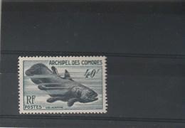 Comores Yvert 13 ** Sans Charnière Gomme Défraichie 2 Scan - Coelacanthe - Comoro Islands (1950-1975)
