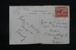 CONGO BELGE - Oblitération Maritime Sur Carte Postale Pour La Belgique - L 28336 - Belgisch-Kongo