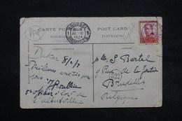 BELGIQUE - Oblitération Maritime Sur Carte Postale Pour La Belgique En 1914 - L 28338 - Postmark Collection