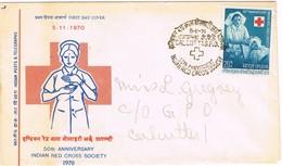 32582. Carta CALCUTTA (India) 1970. Indian RED CROSS. Cruz Roja - India