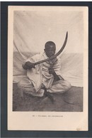 ETHIOPIE Couteau De Cérémonie Ca 1910 OLD  POSTCARD - Etiopía