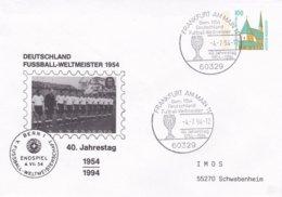 Germany Postal Stationary 1994 Frankfurt Am Main 40. Jahrestag Wunder Von Bern -    (DD7-23) - 1954 – Zwitserland