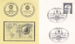 Germany Card 1974 Koblenz 20. Jahrestag Wunder Von Bern   (DD7-23) - 1954 – Zwitserland